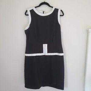 Calvin Klein Classic Black White Sleeveless Dress